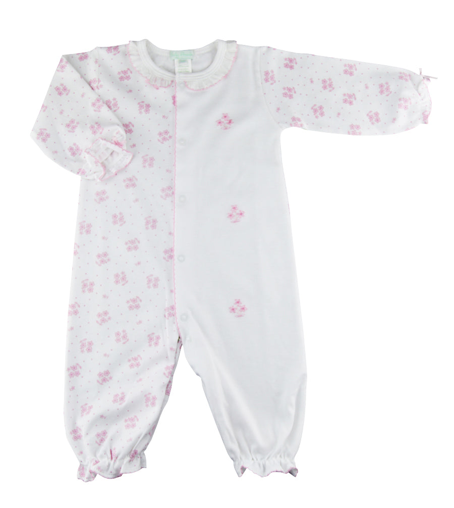 Pink Floral print Baby Girl Converter. - Little Threads Inc. Children's Clothing