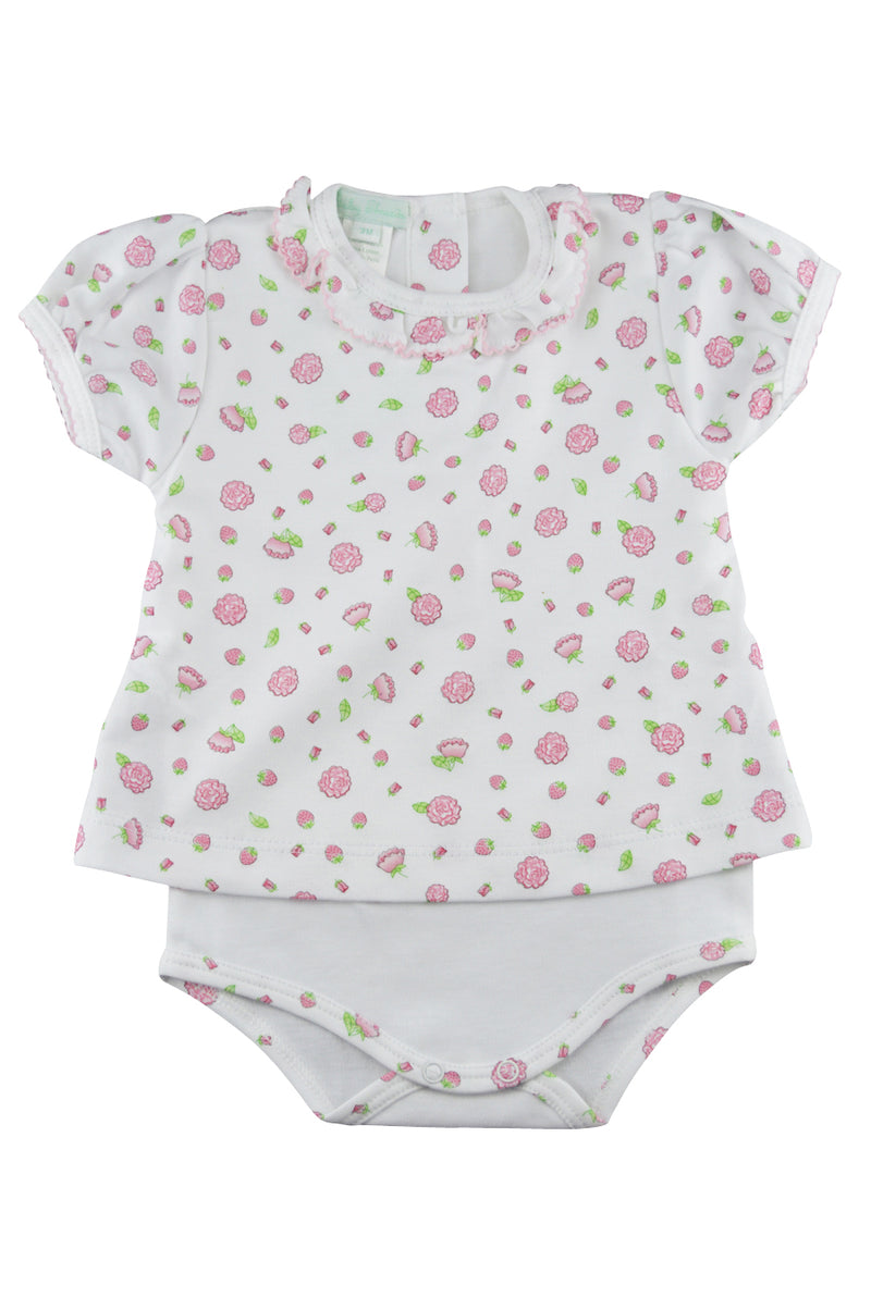Baby Girl's Strawberry Print Onesie - Little Threads Inc. Children's Clothing
