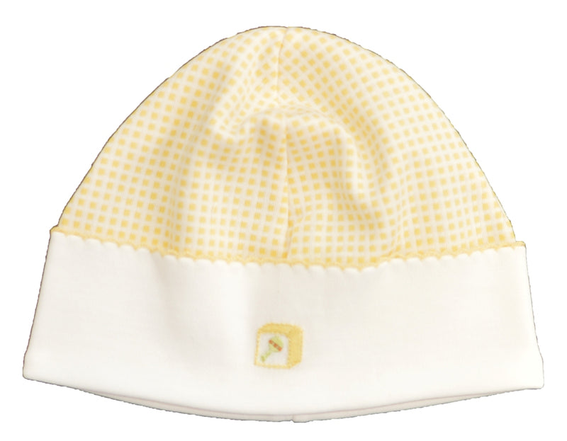 Giraffe Collection Yellow Check Hat - Little Threads Inc. Children's Clothing