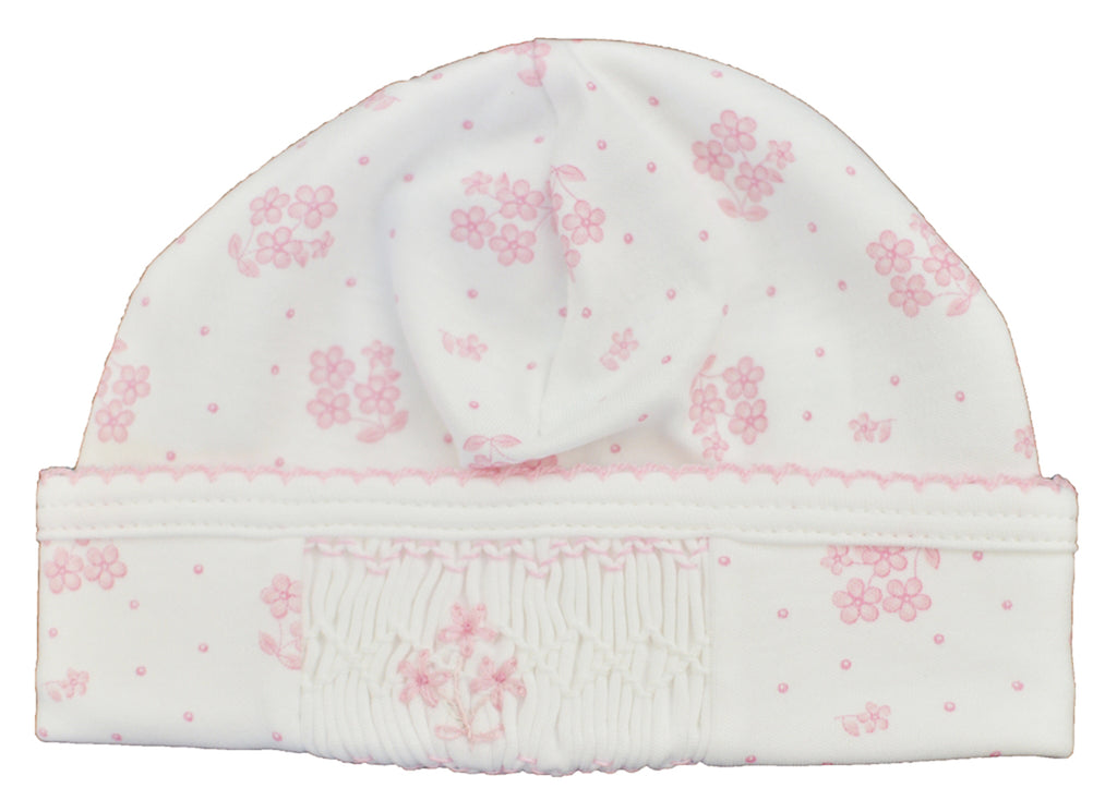 Pink Floral Print baby Hat - Little Threads Inc. Children's Clothing
