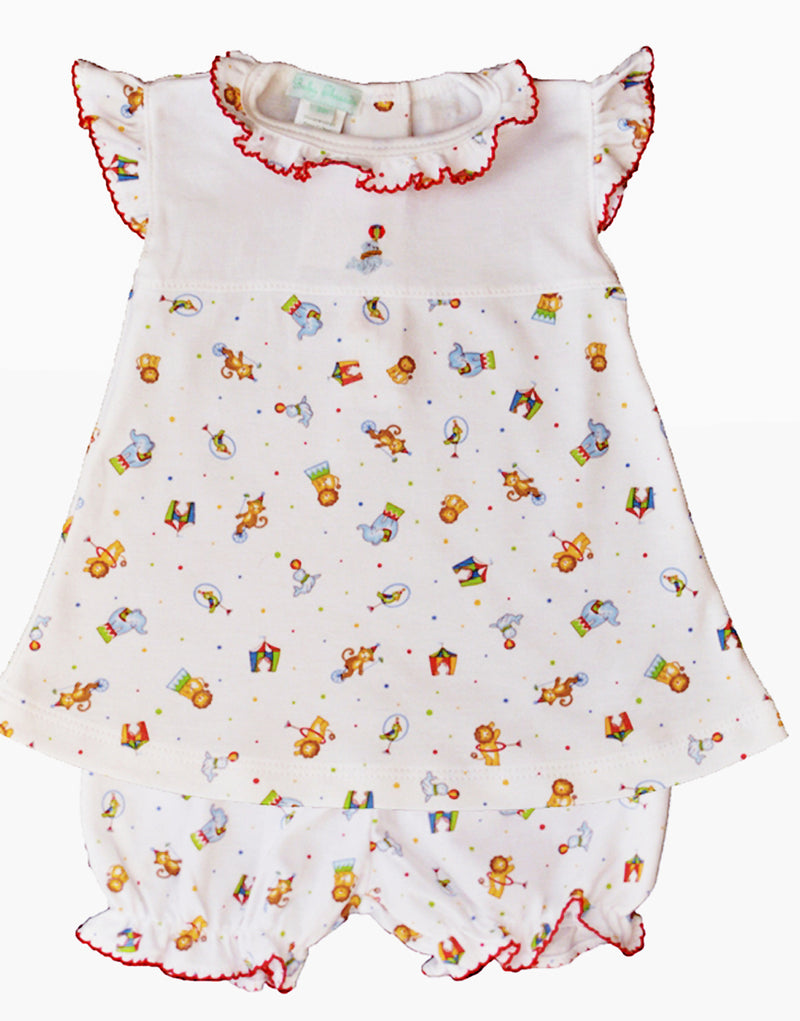 Circus print baby girls dress