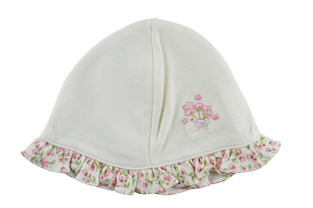 Ivory Rosebuds baby Hat - Little Threads Inc. Children's Clothing