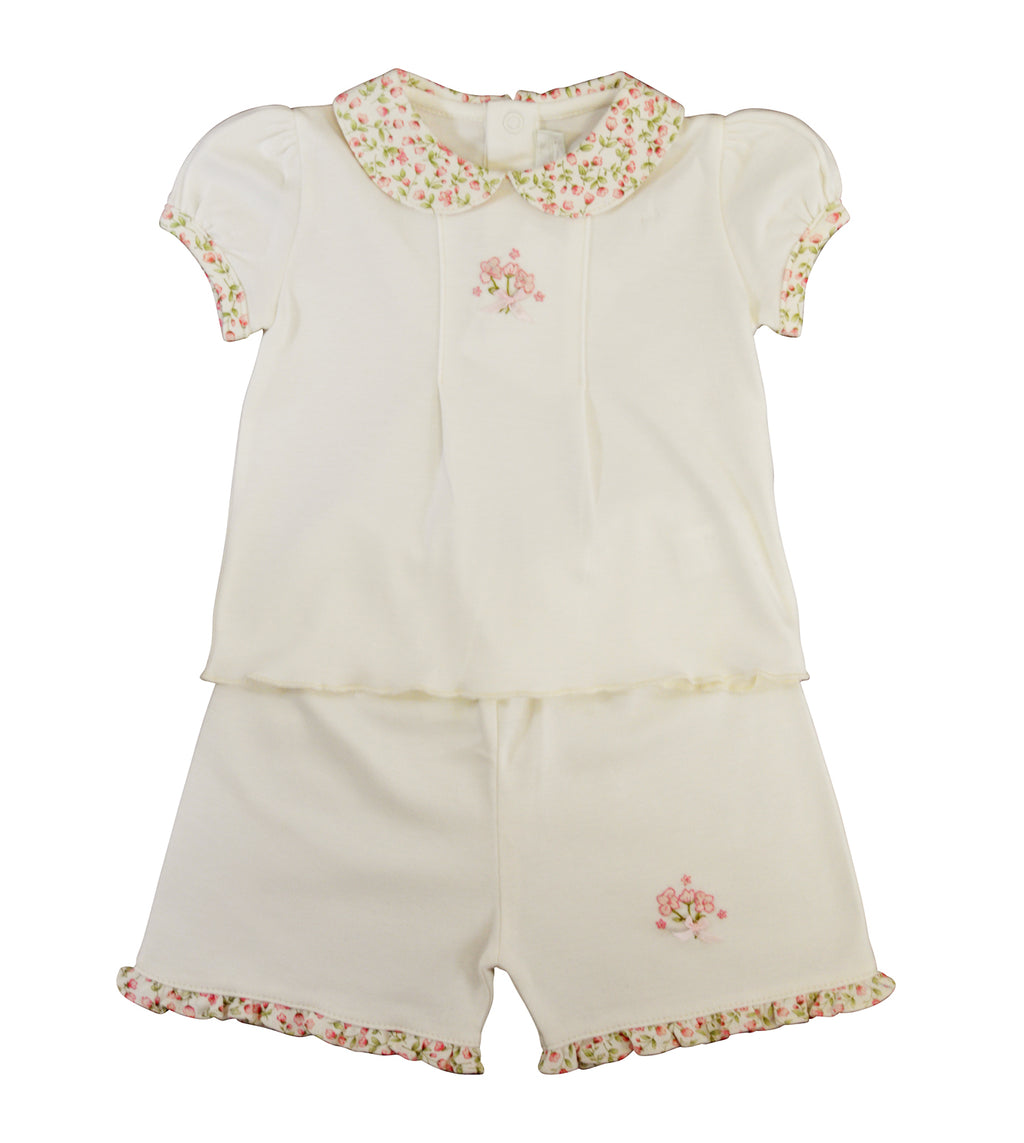 Rosebuds print baby girl's dress - Little Threads Inc. Children's Clothing