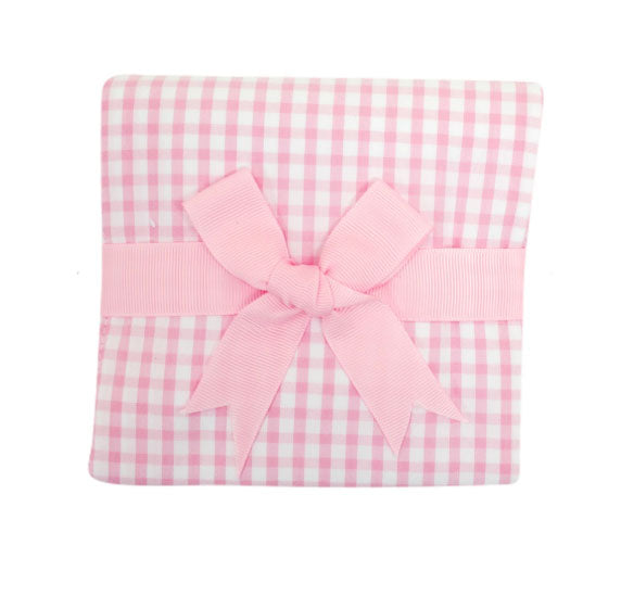 Pink Checks Baby Girl Burp Pad - Little Threads Inc. Children's Clothing