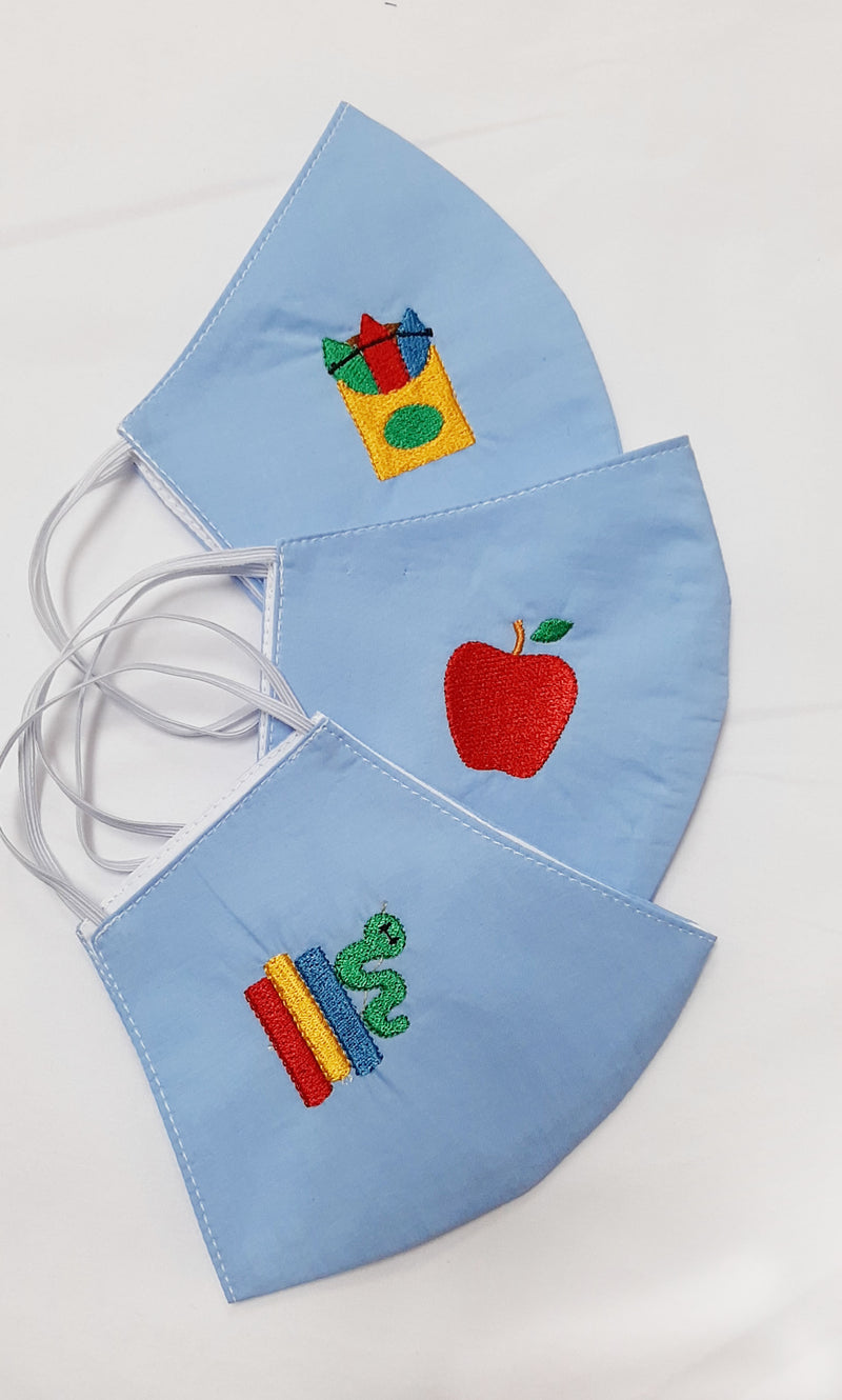 3 pack set Back to School Children Mask - Little Threads Inc. Children's Clothing