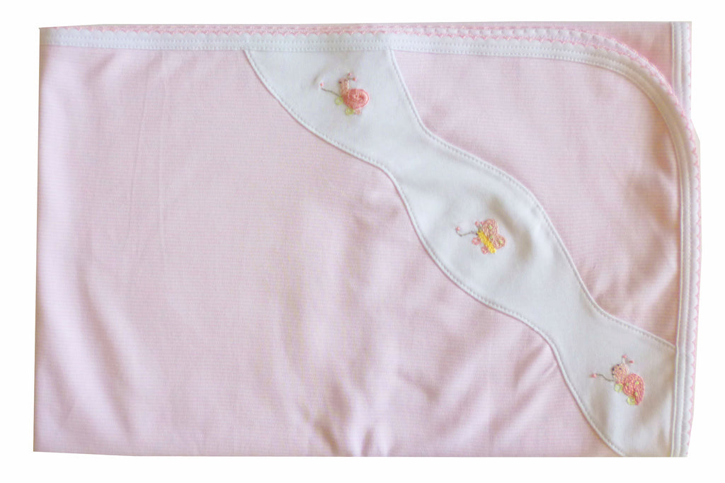 Pull toys  Pima Cotton Baby Girl Blanket