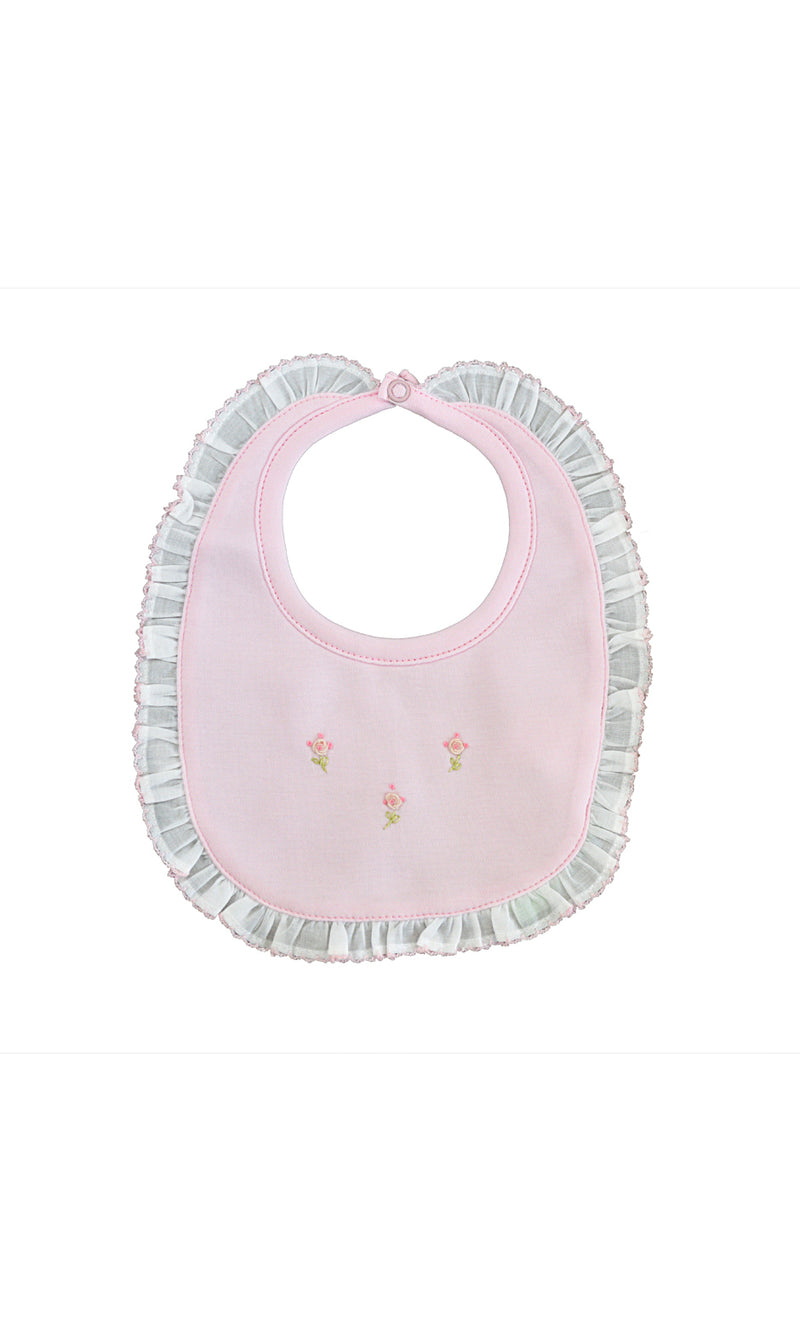 Baby Girl's Pink Roses Bib - Little Threads Inc. Children's Clothing