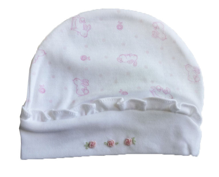 Baby Girl's Pink Bunnies Hat - Little Threads Inc. Children's Clothing