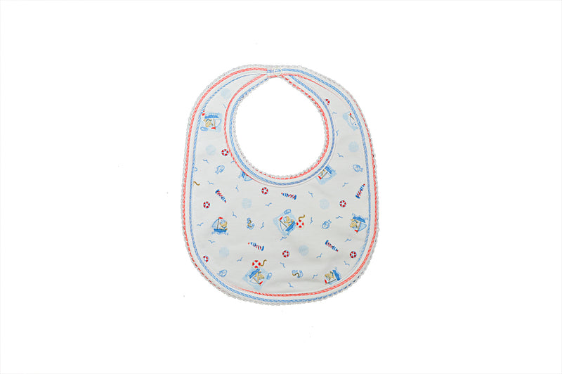Baby Boy's Nautical Bear Bib - Little Threads Inc. Children's Clothing