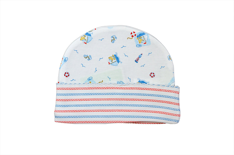 Baby Boy's Nautical Bear Hat - Little Threads Inc. Children's Clothing