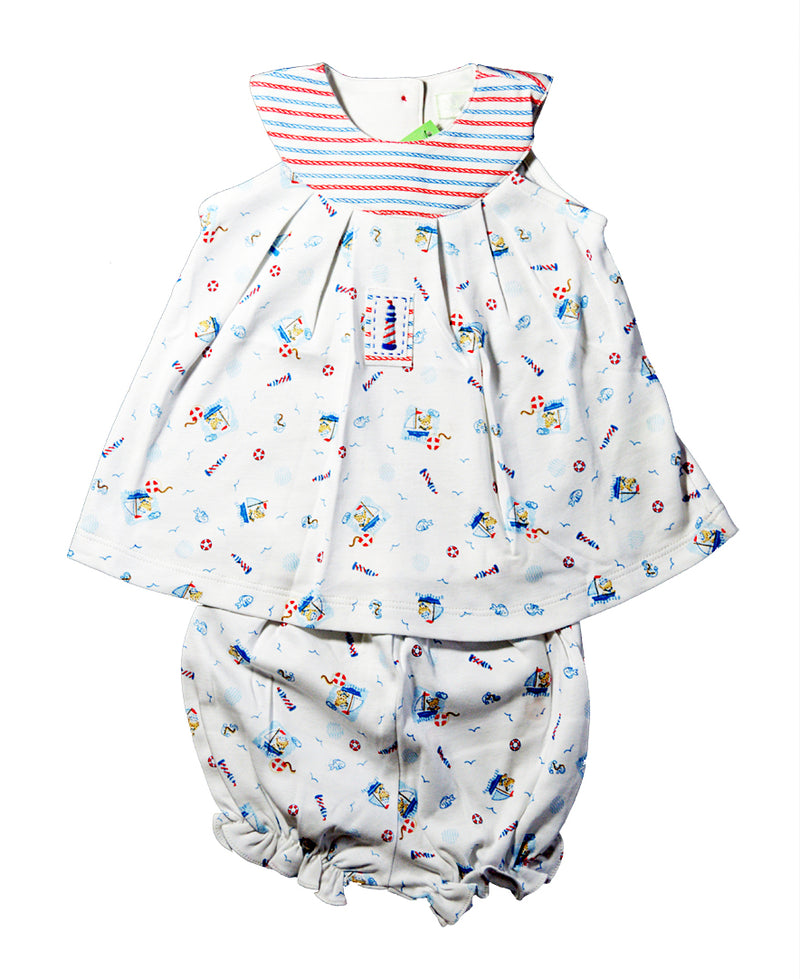 Baby Girl's Nautical Bear Dress - Little Threads Inc. Children's Clothing