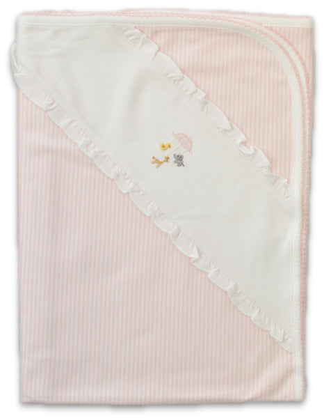 Baby Threads Animal Mobile pima cotton baby blanket.