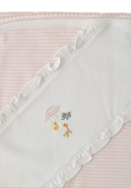 Baby Threads Animal Mobile pima cotton baby blanket. - Little Threads Inc. Children's Clothing