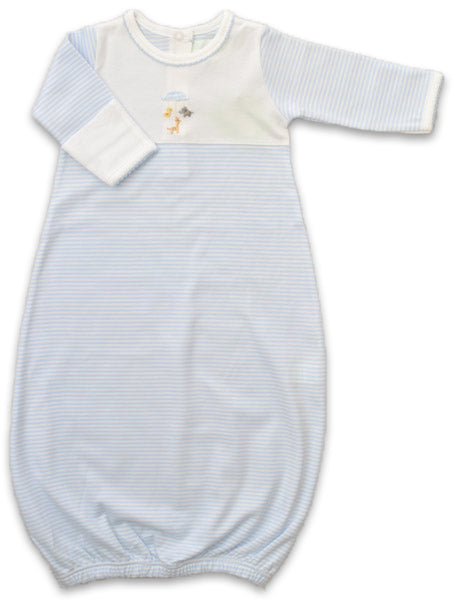 Animal Mobile Boy Daygown - Little Threads Inc. Children's Clothing