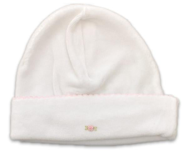 White Velour Girls Hat