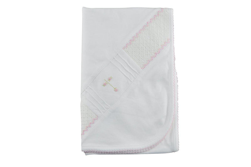 White Velour Girls Blanket