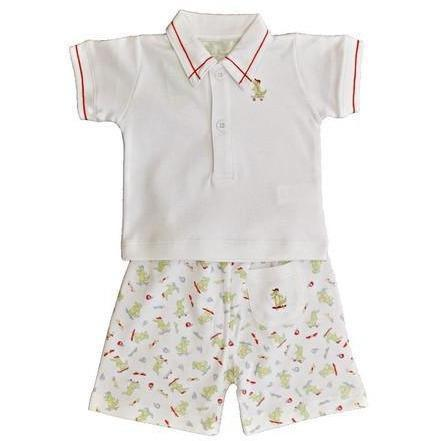 Alligator Bermuda Boys 2pc Pima Cotton Short Set - Little Threads Inc. Children's Clothing