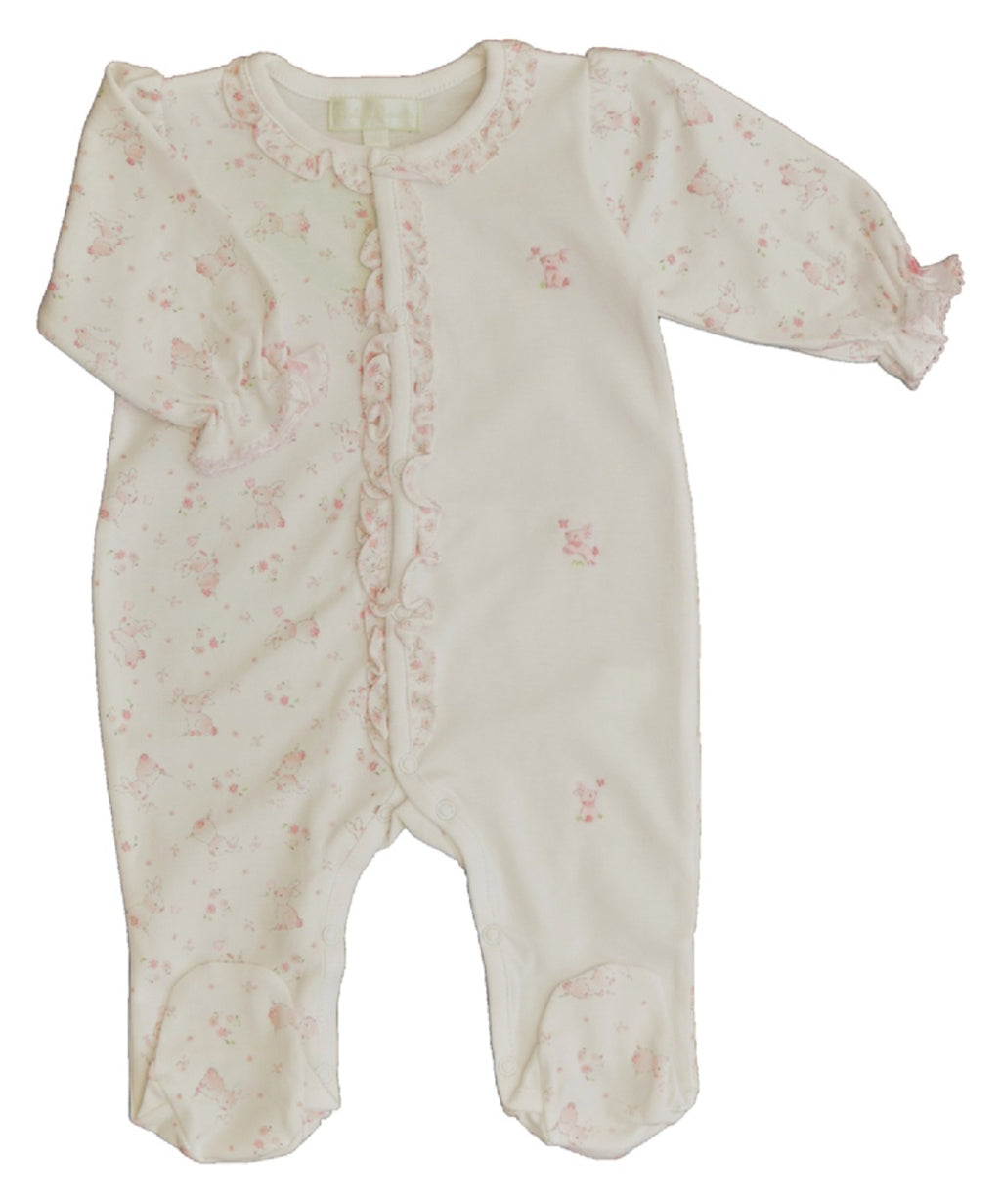 Baby Girl's Pink Bunny Footie - Little Threads Inc. Children's Clothing