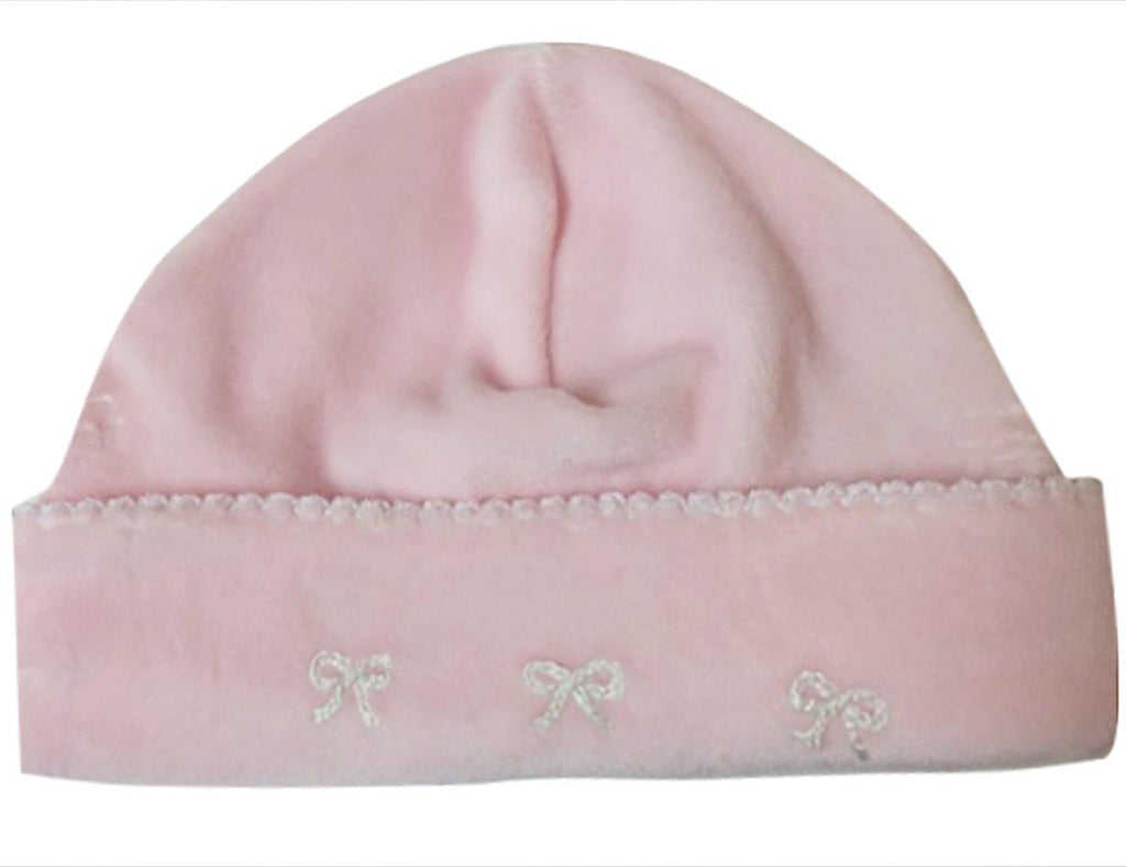 Flowers and Bows Velour Hat - Little Threads Inc. Children's Clothing