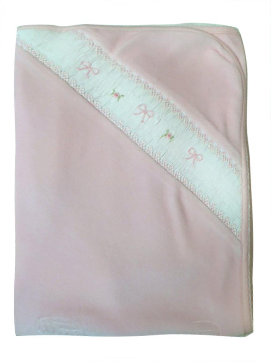Flowers and Bows Velour Blanket - Little Threads Inc. Children's Clothing