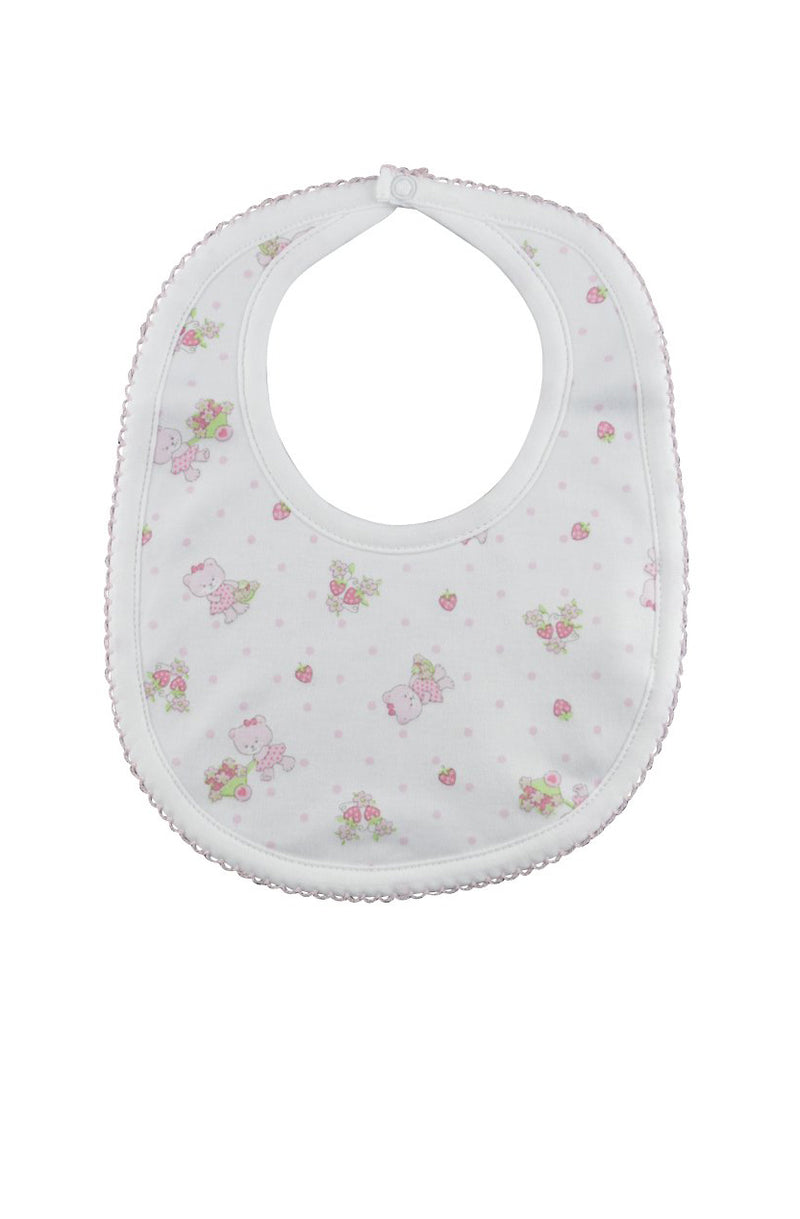 Baby Girl's Strawberry Bear Bib - Little Threads Inc. Children's Clothing