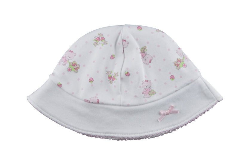 Baby Girl;s Bear Strawberry Sun hat - Little Threads Inc. Children's Clothing