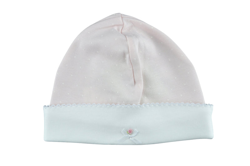 Baby Girl's Pink Flower and Bow Hat - Little Threads Inc. Children's Clothing