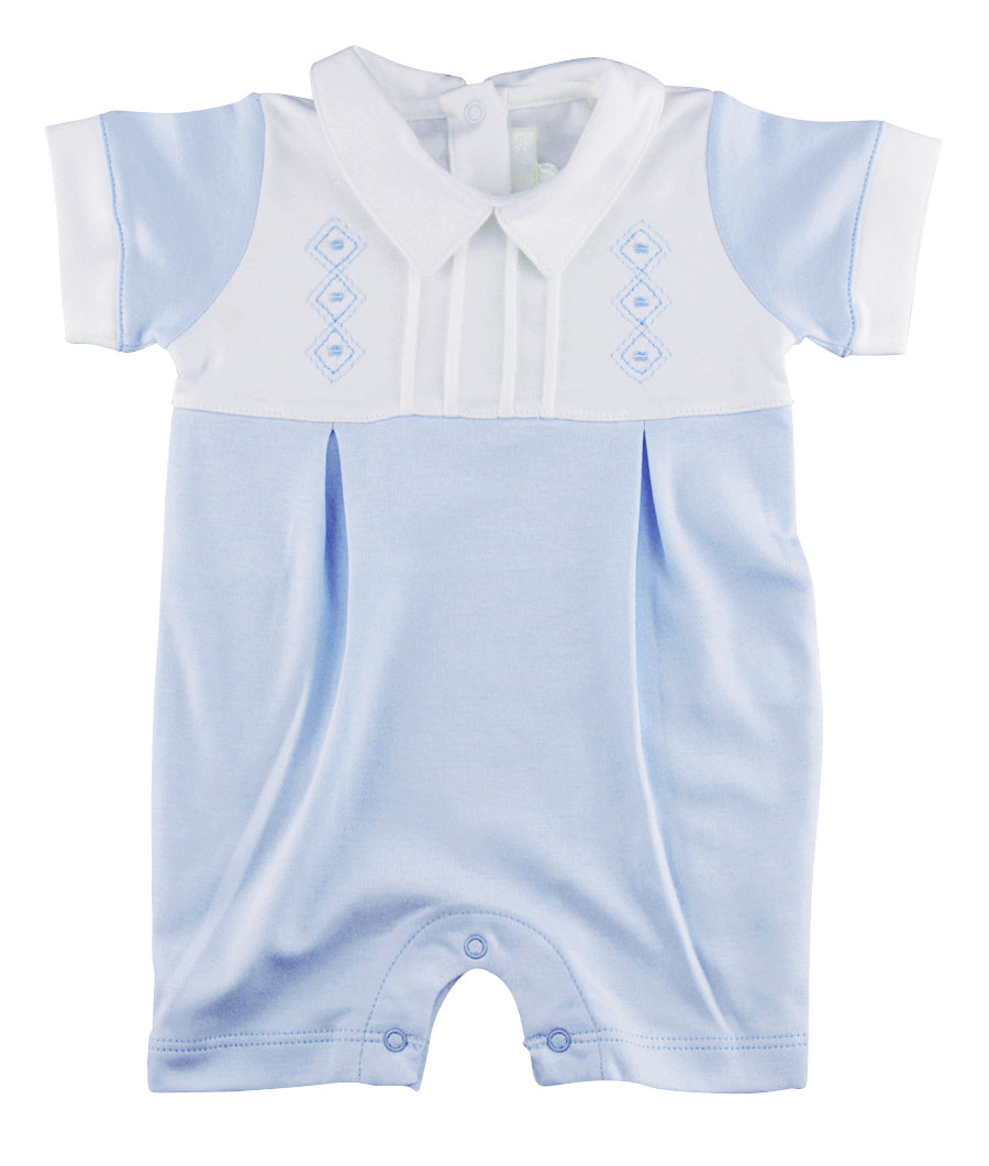 Argyle Baby Boy Pima cotton Romper - Little Threads Inc. Children's Clothing