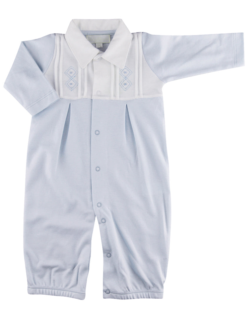 Argyle Baby Boy converter gown - Little Threads Inc. Children's Clothing