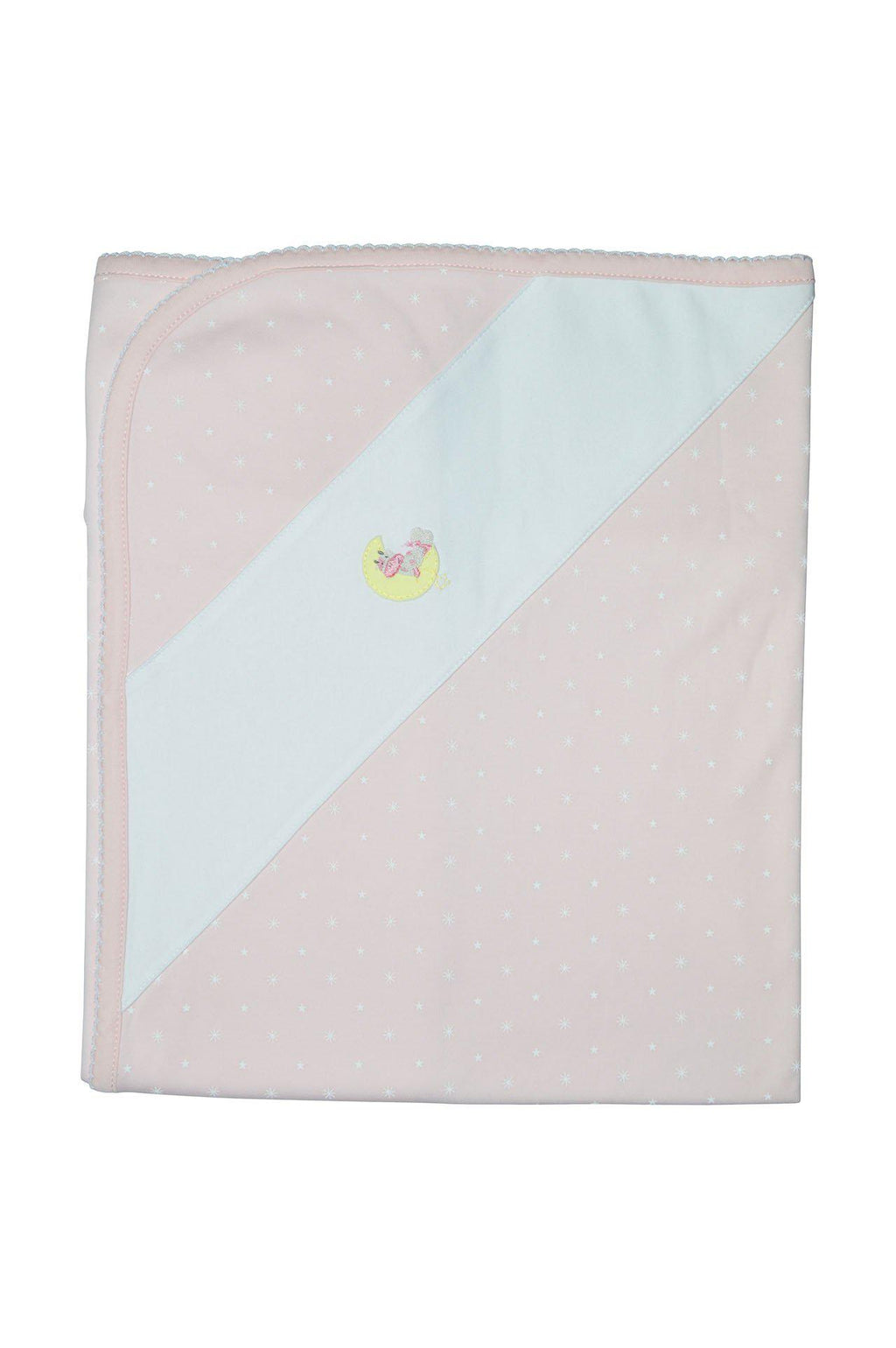 Cow on the Moon Girls Blanket - Little Threads Inc. Children's Clothing
