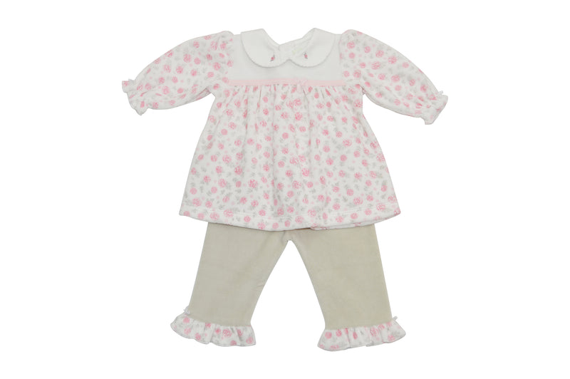 Baby Girl's Pink Floral Dress Set - Little Threads Inc. Children's Clothing