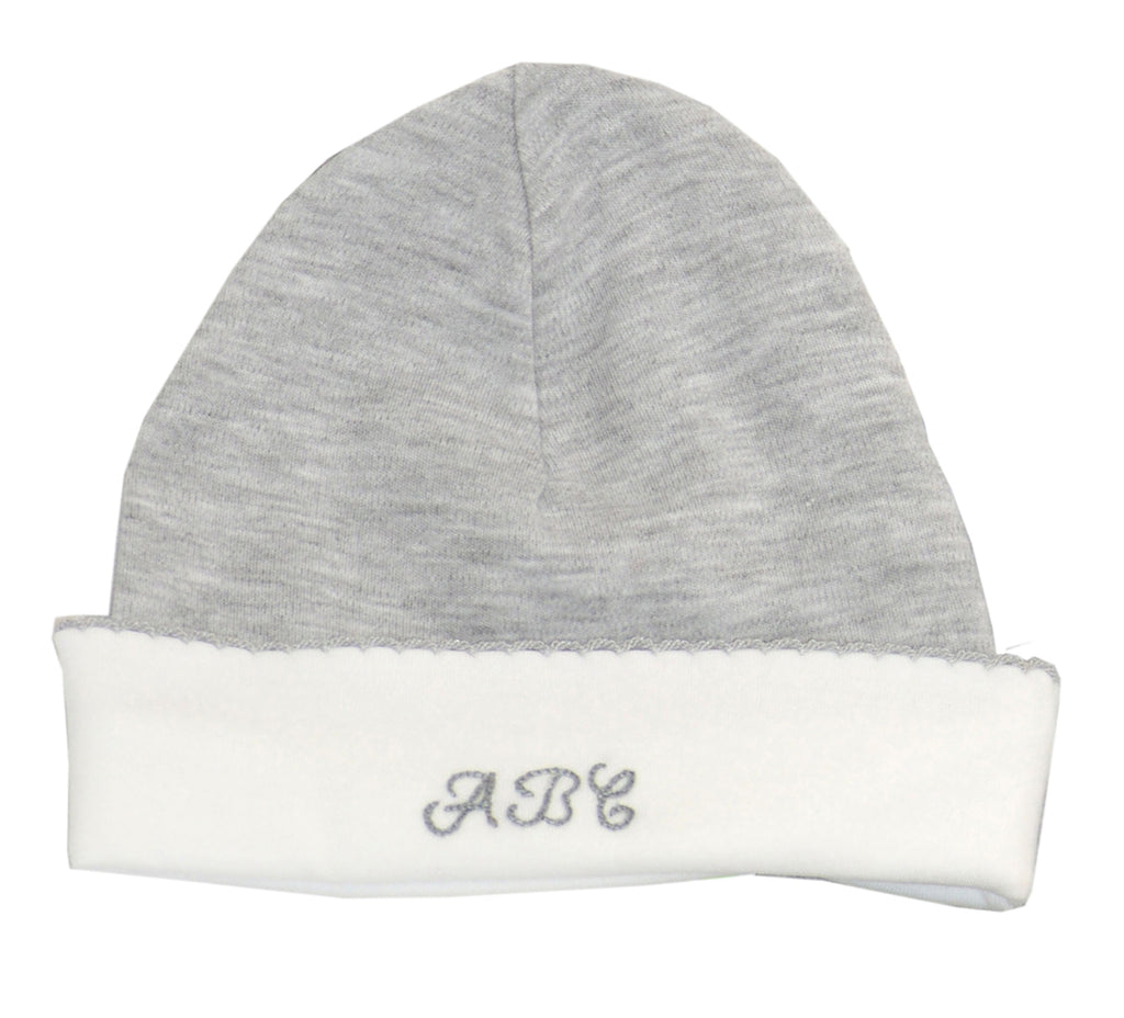 Andrew Heather grey ABC baby hat - Little Threads Inc. Children's Clothing