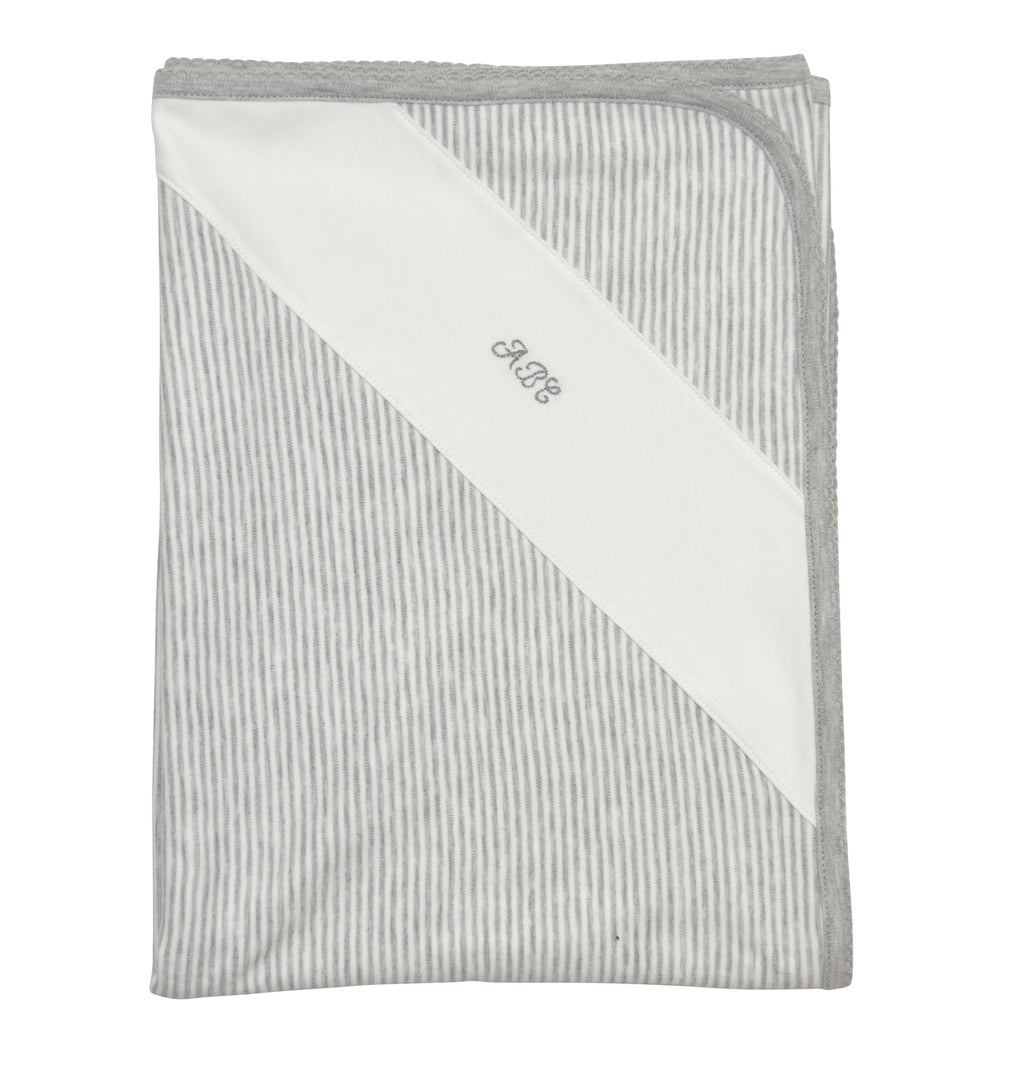 Andrew Heather grey ABC  baby blanket