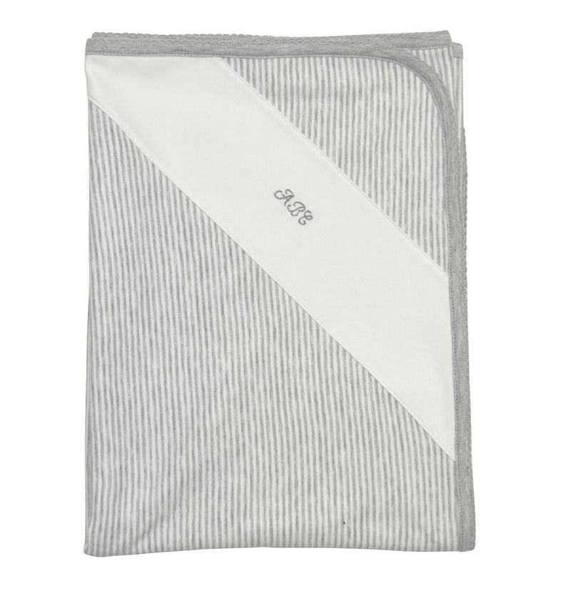 Andrew Heather grey ABC  baby blanket - Little Threads Inc. Children's Clothing