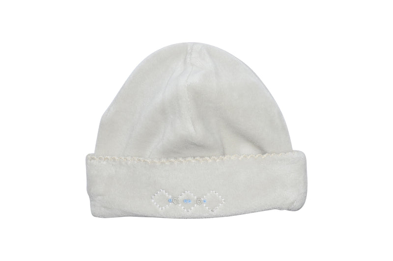 Jo and Joan Pearl Grey Velour Boy's Hat - Little Threads Inc. Children's Clothing