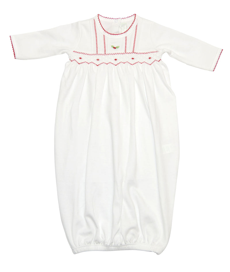 White Christmas Unisex daygown - Little Threads Inc. Children's Clothing
