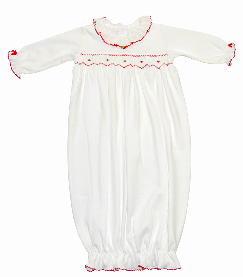 White Christmas Baby Girl's Daygown - Little Threads Inc. Children's Clothing