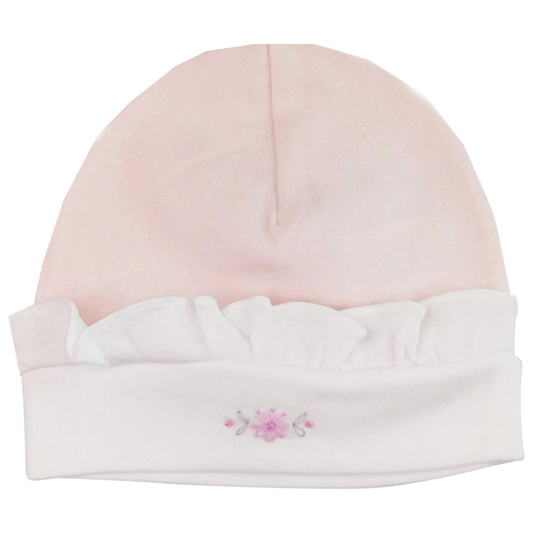 Pink Pima Cotton baby hat - Little Threads Inc. Children's Clothing