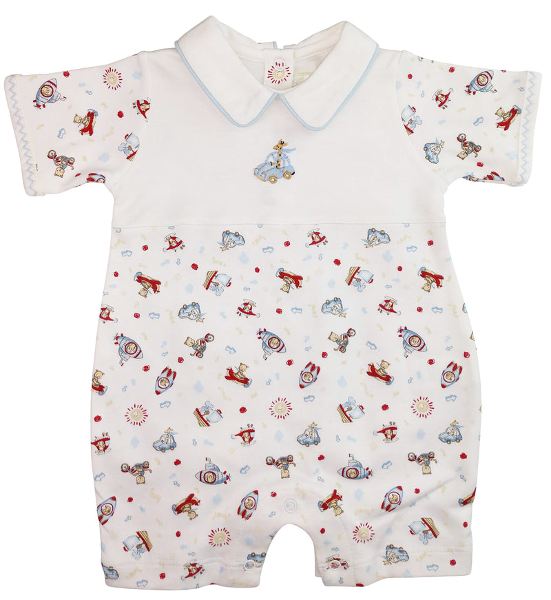 Animals on the Go Baby Boy Romper - Little Threads Inc. Children's Clothing