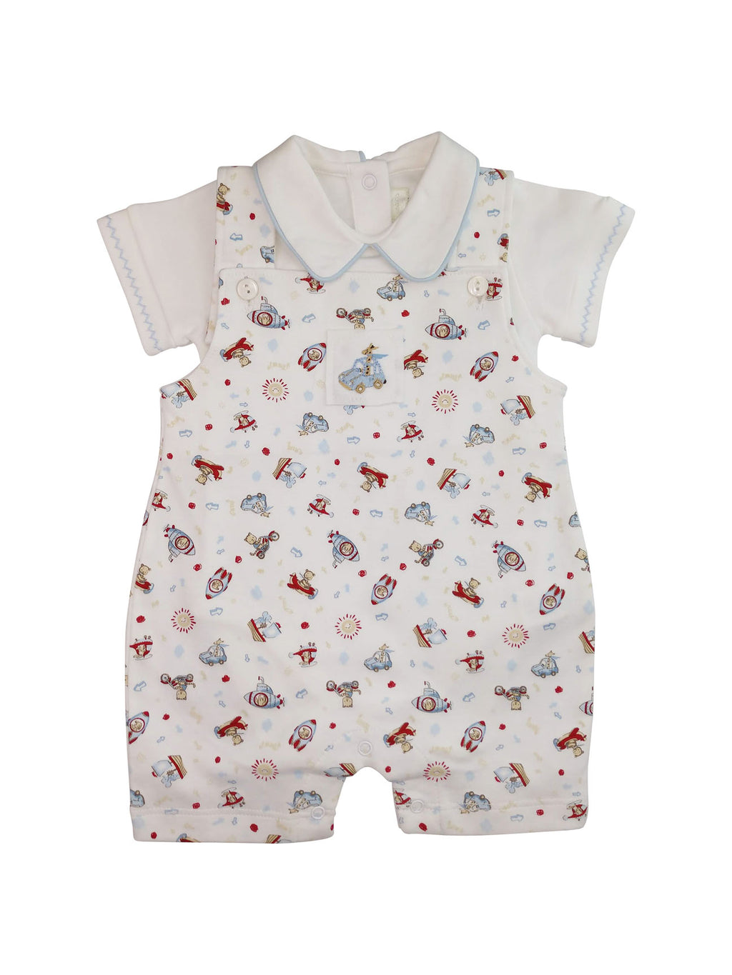 Animals on the Go Baby Boy Overall Set - Little Threads Inc. Children's Clothing