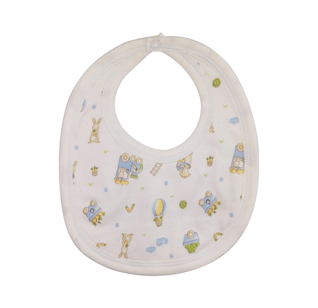 Baby Boy's Bunny Print Bib - Little Threads Inc. Children's Clothing