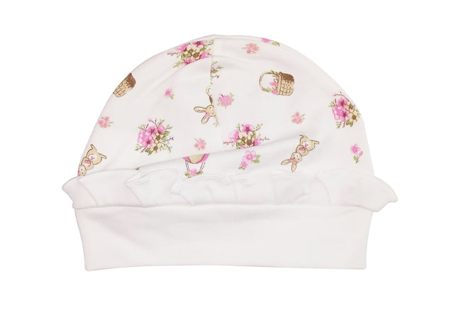 Easter Bunnies Print Baby Girls Hat - Little Threads Inc. Children's Clothing