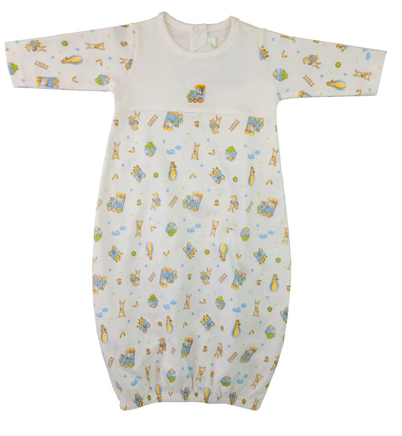 Bunnies print  boys daygown
