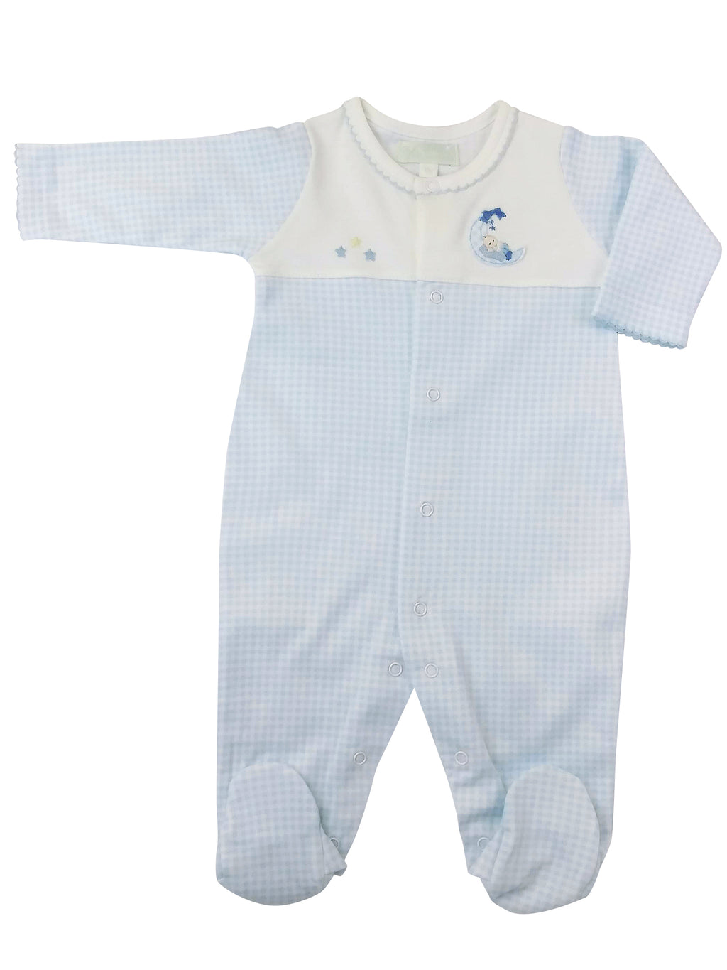 Boy on the Moon Footie - Little Threads Inc. Children's Clothing