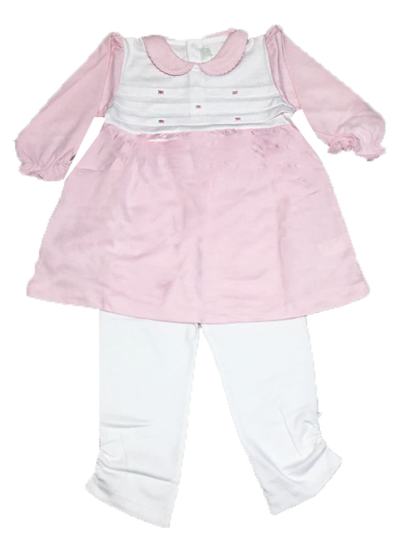 Baby Girl's Pink Pintucks Dress - Little Threads Inc. Children's Clothing