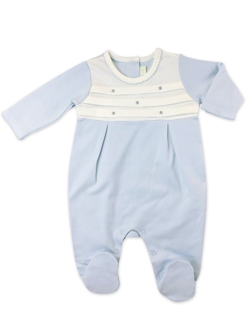 Baby Boy's Blue Dots Footie - Little Threads Inc. Children's Clothing