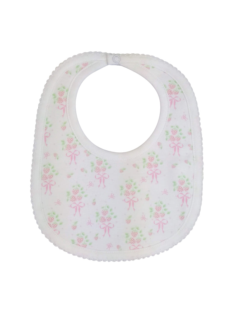 Baby Girl Strawberry Bib - Little Threads Inc. Children's Clothing