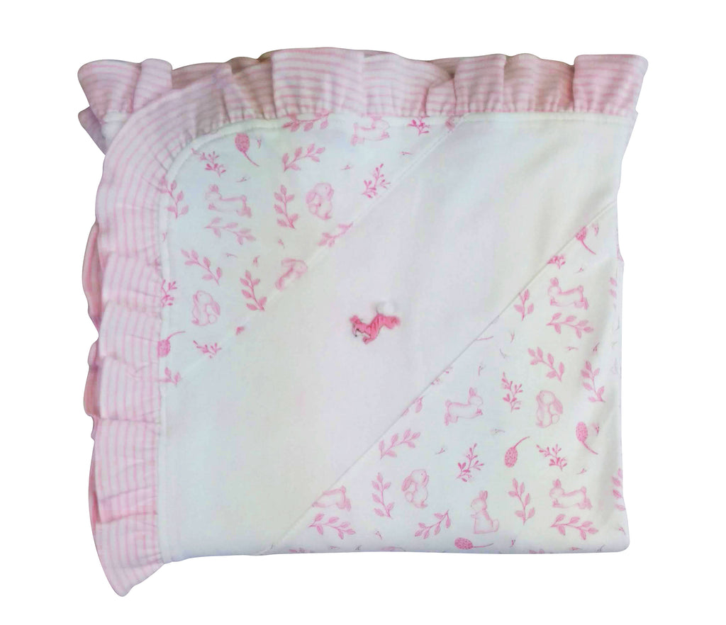 Baby Girl's Pink Bunnies Blanket - Little Threads Inc. Children's Clothing