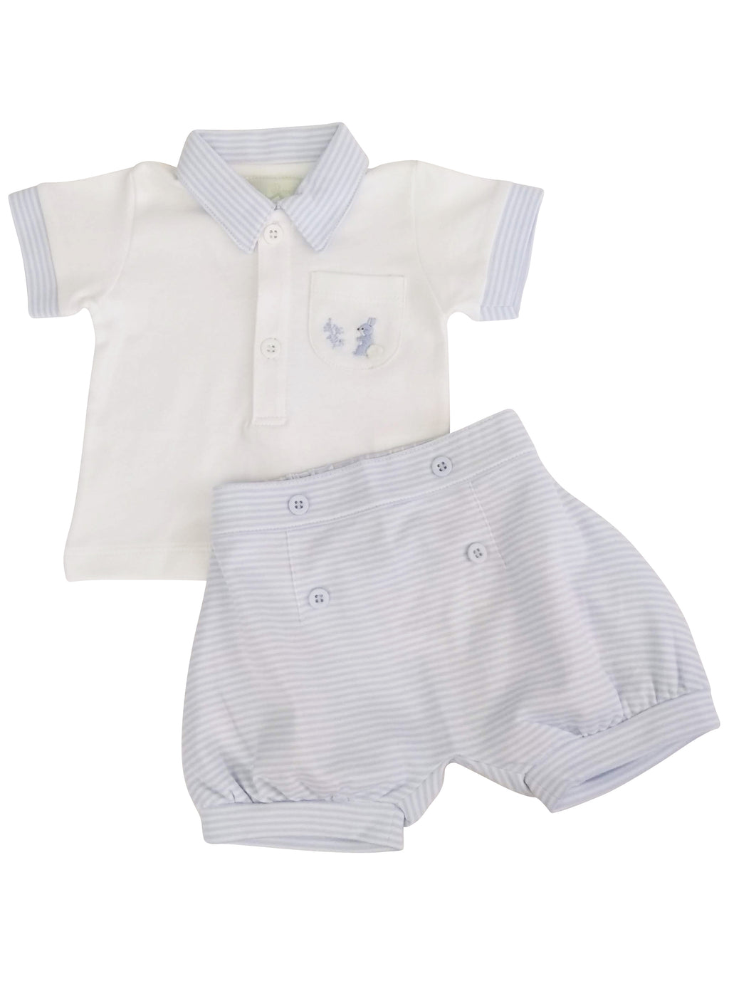 Baby Boy's Striped Bunny Shirt and Shorts Set - Little Threads Inc. Children's Clothing