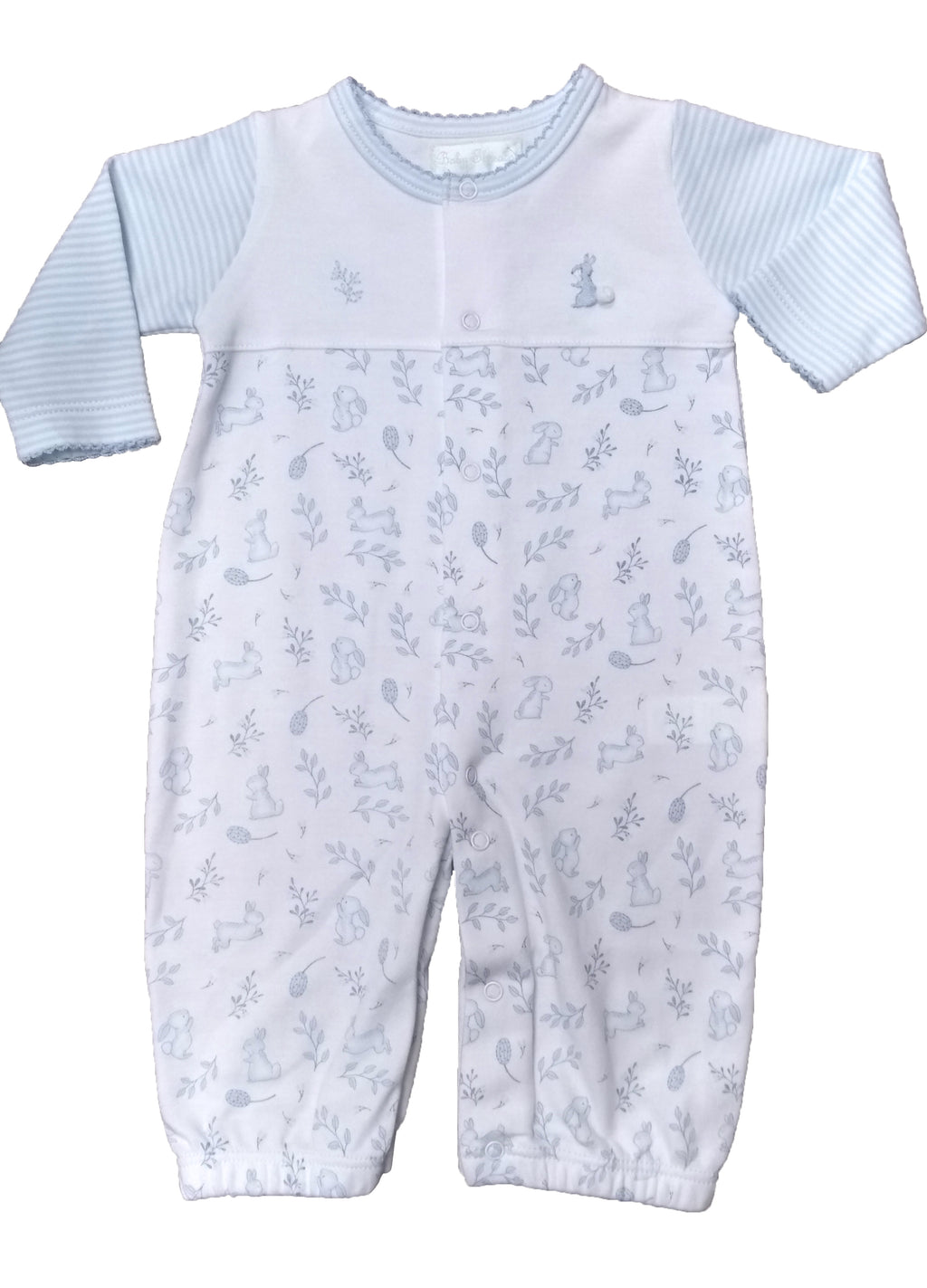 Baby Boy's Blue Bunnies Converter - Little Threads Inc. Children's Clothing